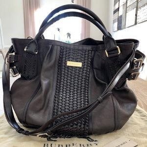 BURBERRY leather braided texture Large Bethan tote